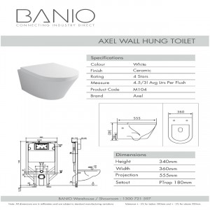 WALL HUNG TOILET M104C