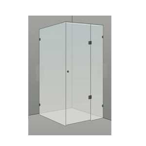 Frameless Shower Screen Drawring